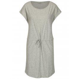 Šedé žíhané šaty s krátkým rukávem ONLY May