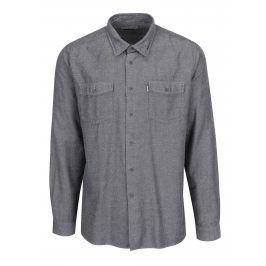 Krémovo-černá vzorovaná tailored fit košile Barbour Bow