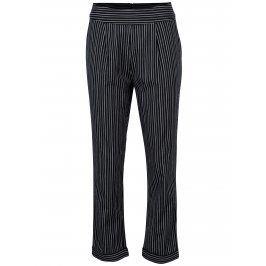 Tmavě modré zkrácené pruhované kalhoty Yerse