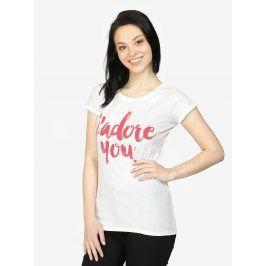 Bílé tričko s potiskem Haily's Tamina