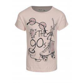 Růžové holčičí tričko s třpytivým potiskem small rags Gerda
