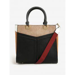 Hnědo-černá kabelka s odnímatelným popruhem Bessie London