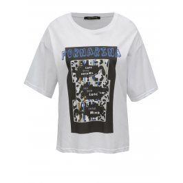 Bílé tričko s potiskem Fornarina Amber 1
