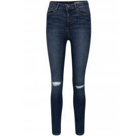 Tmavě modré skinny džíny s vysokým pasem VERO MODA Sophia