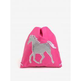 Růžový holčičí vak s potiskem koně Tom Joule Active