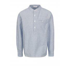 Krémovo-modrá klučičí košile s dlouhým rukávem name it Mihebbe