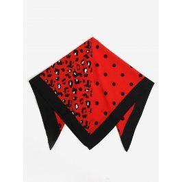 Černo-červený vzorovaný šátek Pieces Matiilda