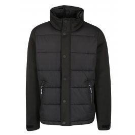 Černá pánská prošívaná bunda s límcem s.Oliver