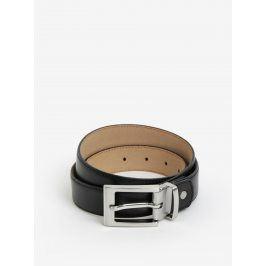 Černý pánský kožený pásek Selected Homme Baxter