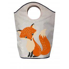 Krémový koš na prádlo potiskem lišky Butter Kings