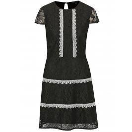 Černé krajkované šaty Dorothy Perkins