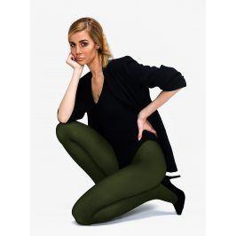 Tmavě zelené punčochové kalhoty Andrea Bucci 80 DEN