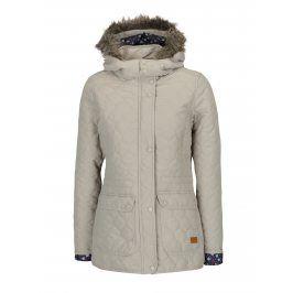 Béžová prošívaná funkční bunda s kapucí M&Co