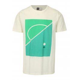 Krémové tričko s potiskem Dedicated Football field