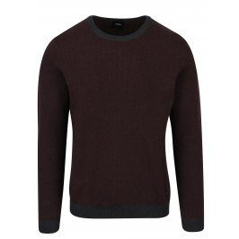 Vínový vzorovaný svetr Burton Menswear London