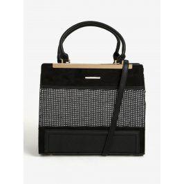 Černá vzorovaná kabelka do ruky Bessie London
