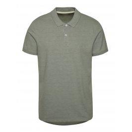 Zelenošedé polo tričko Selected Homme Aro