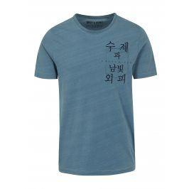 Modré tričko s potiskem ONLY & SONS Steven