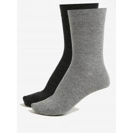 Sada dvou párů unisex ponožek v šedé barvě JELL