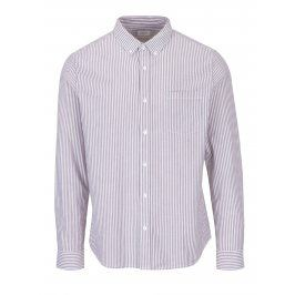 Krémovo-hnědá pruhovaná košile Burton Menswear London