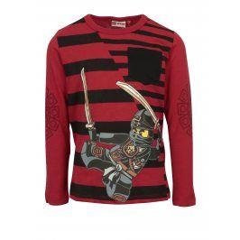 Černo-červené klučičí tričko s potiskem a kapsou Lego Wear Teo