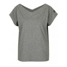 Šedé dámské tričko s véčkovým výstřihem Cheap Monday