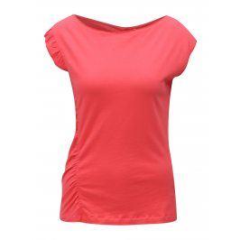 Korálové tričko s volánem Skunkfunk Hamasei