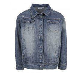 Modrá holčičí džínová bunda s potiskem na zádech name it Balsa
