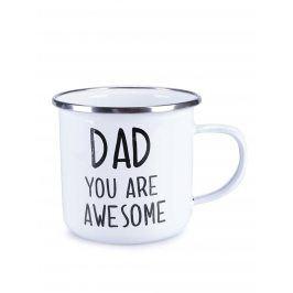 Bílý plechový hrnek Sass&Belle Dad You Are Awesome