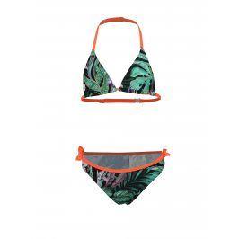 Zelené vzorované holčičí dvoudílné plavky name it Zandie