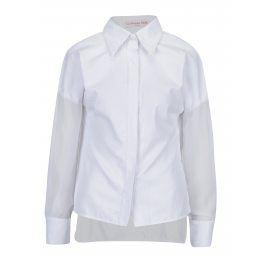 Bílá košile s průsvitnými rukávy La femme MiMi