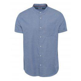 Modrá žíhaná košile s kapsou Burton Menswear London
