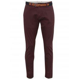 Vínové chino kalhoty Selected Homme Yard