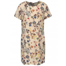 Béžové květované šaty ONLY Amara