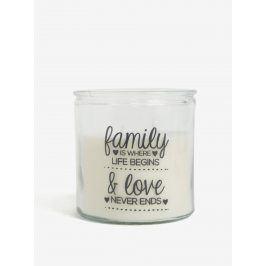 Krémová svíčka ve skle s potiskem SIFCON Rodina a láska