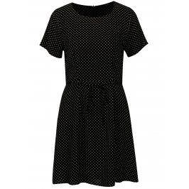 Černé puntíkované šaty ONLY Laura