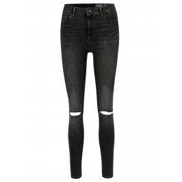 Šedé džíny s potrhaným efektem a vysokým pasem VERO MODA Sophia