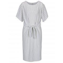 Černo-krémové pruhované midi šaty Miss Selfridge