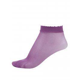 Růžové silonkové kotníkové ponožky Gipsy