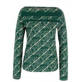 Krémovo-zelené vzorované tričko Tranquillo Dota
