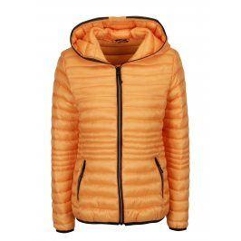 Oranžová prošívaná bunda s kapucí Yest