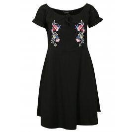Černé šaty s výšivkou Dorothy Perkins Curve