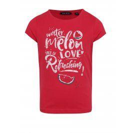Červené holčičí tričko s potiskem melounu Blue Seven