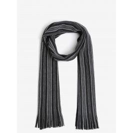 Šedo-černá pruhovaná šála Burton Menswear London
