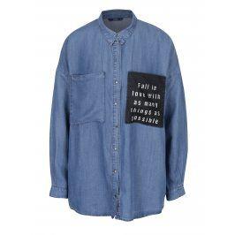 Modrá džínová košile s kapsami ONLY May