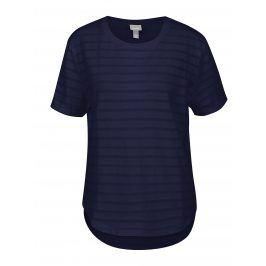 Tmavě modré tričko s průsvitnými pruhy Bench