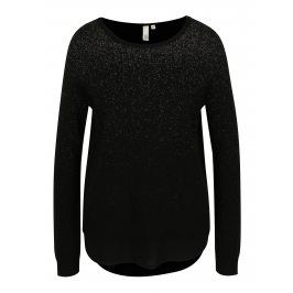 Černý dámský třpytivý svetr s.Oliver