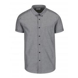 Světle šedá košile s krátkým rukávem Burton Menswear London