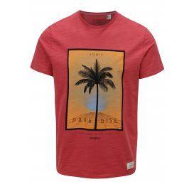 Červené pánské regular fit tričko s potiskem O'Neill Sonic