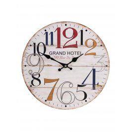 Krémové dřevěné hodiny